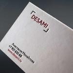Letterpress визитки на хлопковой бумаге